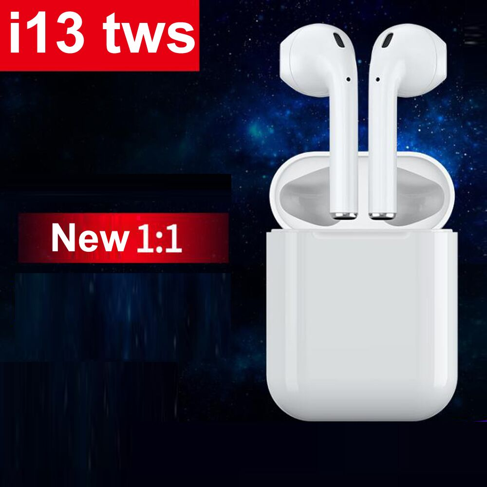 2019 new Touch control i13 TWS 1:1 earbuds Wireless Bluetooth 5.0 3D super bass earphone pk i10 i11 i12 tws for iPhone android