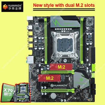 Famous Brand motherboard with M.2 slot HUANANZHI discount X79 motherboard SATA3.0 port PCI-E x16 support 4*16G 1866MHz memory 1