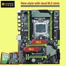 Huananzhi x79 lga2011 super placa mãe do jogo com duplo m.2 ssd slot ddr3 quad canal ram max até 128g rtl8111h giga lan
