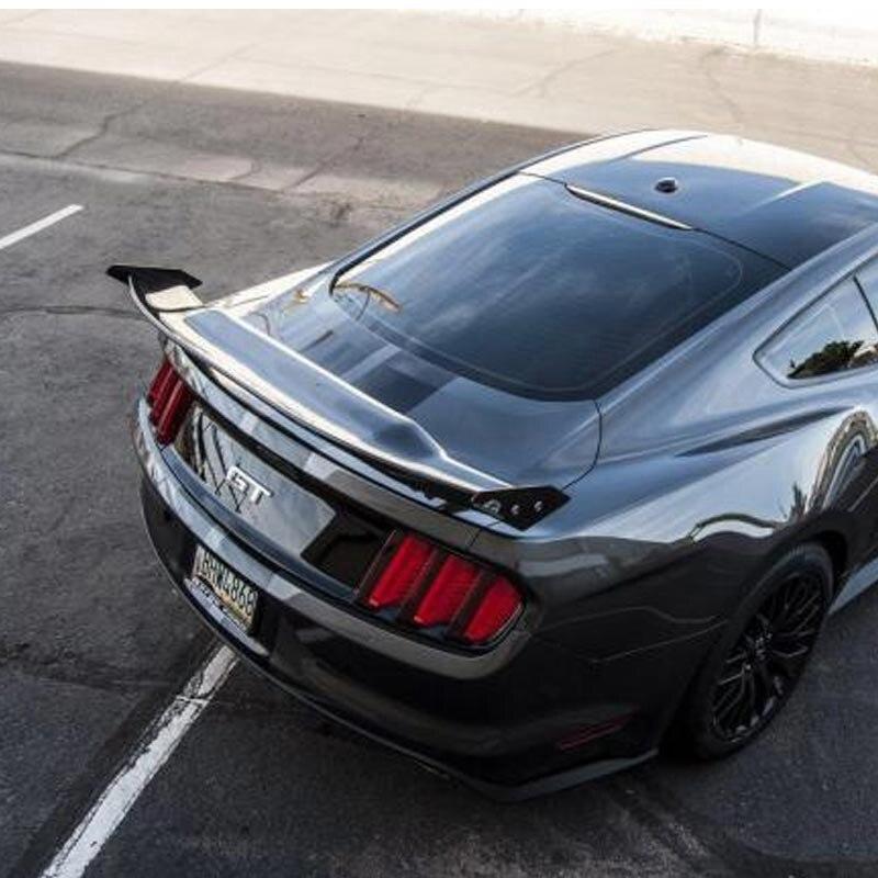 ABRIL estilo top quality real da fibra do Carbono Tronco Spoiler Asa Traseira Do Carro Para Ford Mustang 2015-2018 ou sedan modelos, perfuração necessário