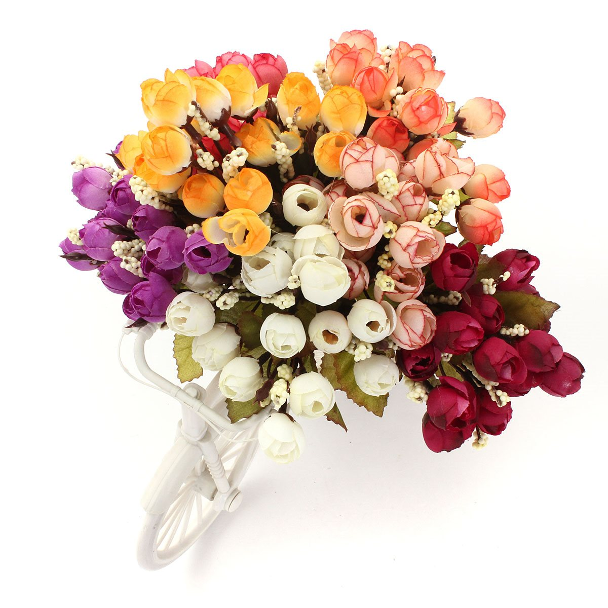 Home Wedding Party Bridal Decor 1 Bouquet Artificial Rose Silk 15