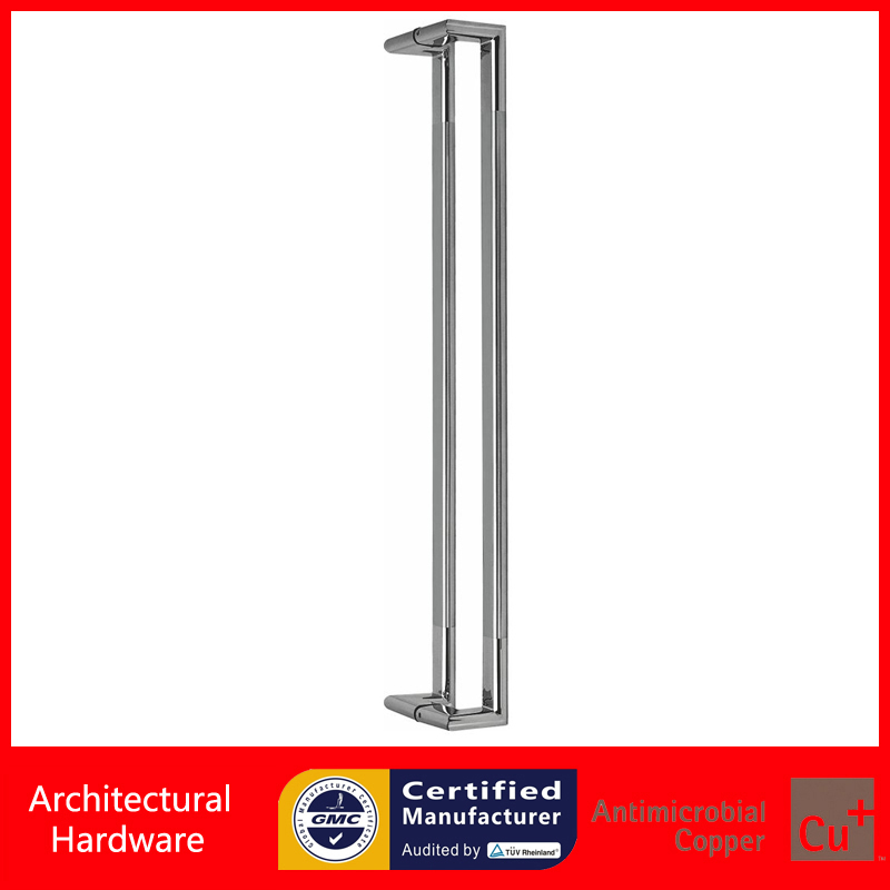 Offset Entrance Door Pull Handle Made Of Brushed Stainless Steel Available For Glass/Metal/Wooden Doors PA-136-38*20*800mm antimicrobial black solid nylon offset door pull handle for entrance glass wooden metal frame doors pa 797