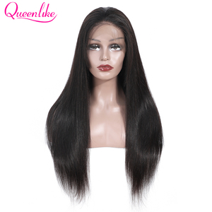 Image 3 - Brazilian Straight 13x4 Lace Front Wig With Baby Hair Natural Hairline For Women Queenlike Remy Lace Front Human Hair Wigs