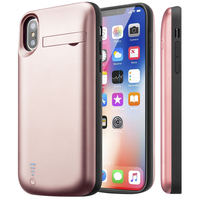 External Battery Charging Case For IPhone X 5000mAh Power Bank Silm Backup Cover Audio Battery Case