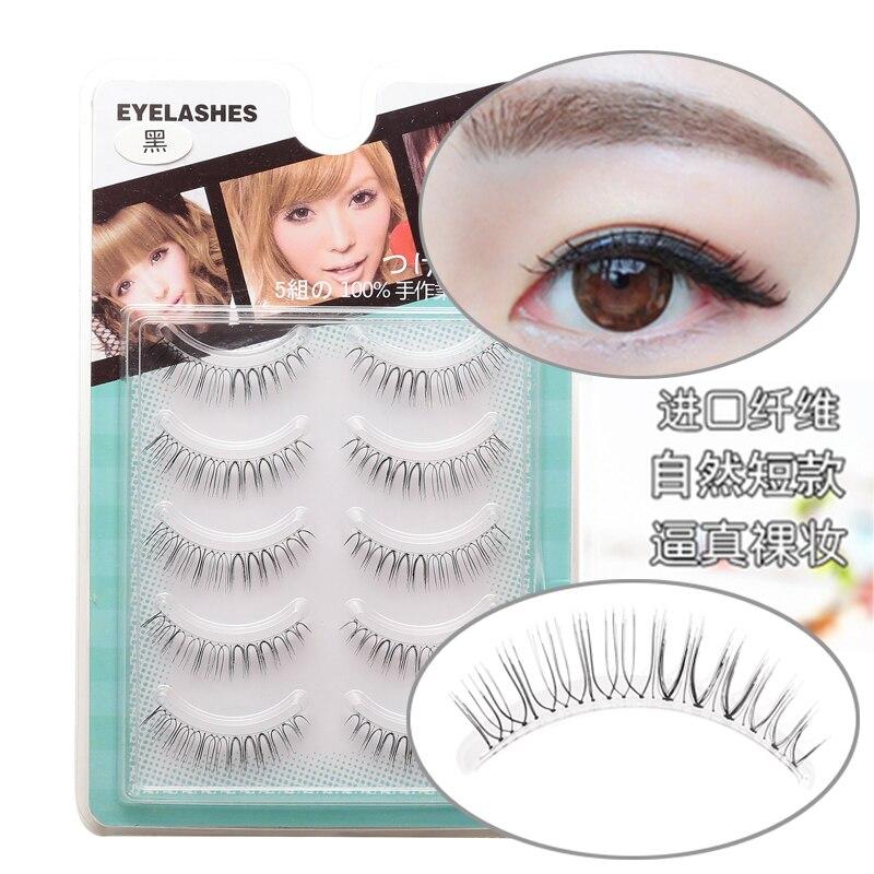ICYCHEER 5 Pairs/Box Japanese Natural Look Eyelashes Handmade Long Soft False Eyelashes Makeup Lash Extension