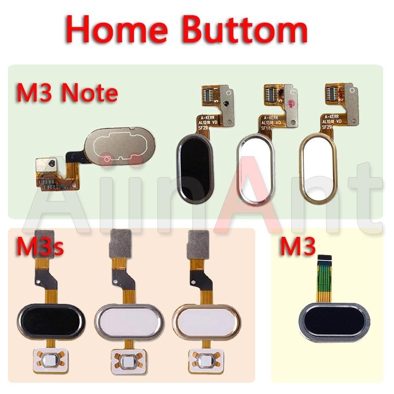 Aiinant Original Home Key Fingerprint Return Button Touch ID Sensor Flex Ribbon Cable For Meizu M3 Note M3s Mobile Phone Parts