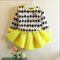 autumn baby girls clothes stars print kids sweater+girls tutu dresses 2pcs clothing sets for girl party vetement fille children