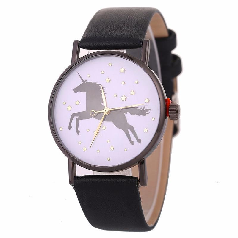 Quartz Watch Fashion Unicorn Pattern Watch Children's Watch Women's Korean Edition Belt Watch