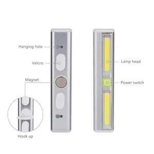 Image 3 - Eletorot LED Wardrobe Night Light Magnetic COB Battery Powered Cabinet Closet Wireless Night Lighting Car Repair Lamp