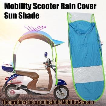 Motocykl skuter pokrywa motocykl słońce deszcz osłona przeciwwiatrowa elektryczny samochód zapobiec parasol płaszcz przeciwdeszczowy 2 8*0 8*0 75M tanie i dobre opinie polyester blue Motorbike Scooter