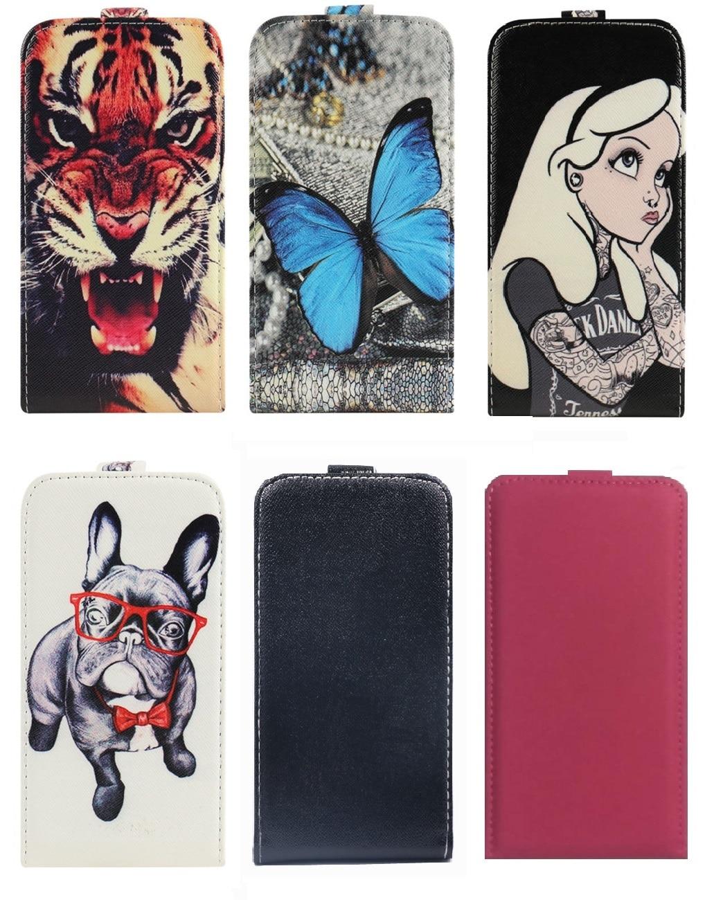 Karikatura tištěné nahoru a dolů PU kožené pouzdro kryt pouzdra - Příslušenství a náhradní díly pro mobilní telefony