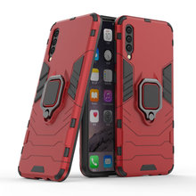 Armor Ring Case For Samsung Galaxy A50 SM-A505FD A30 SM-A305FD Magnetic Car Hold Shockproof Soft Bumper Phone Cover