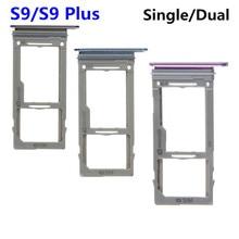 Dual Sim Card / Single Sim Card + Micro SD Holder Slot Tray for Samsung Galaxy S9 / S9 Plus