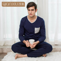 Men Pajamas Sets Spring Autumn Coton Knitted Long Sleeved Large Size Couple For Men Home Wear