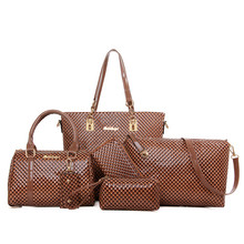 New Composite Bag six pieces vintage women handbags clutch designer brand handbag leather messenger bag crossbody Clutch bag