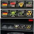 Para VW golf 6/GTI/R20 um botão chave de ignição modificação/nitrogênio/Velocidade perigosa radiação/carro adesivos decorativos