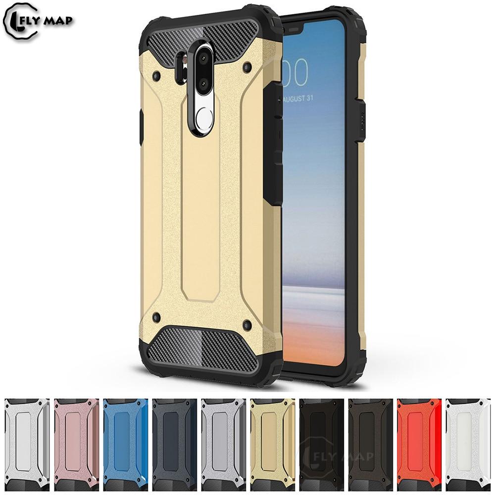 Armor Cover for LG G7 G 7 ThinQ G710 LM-G710 LMG710 LGG7 PC Silicon Phone Protection Case for LG 7G G710EM LMG710EM LM-G710EM