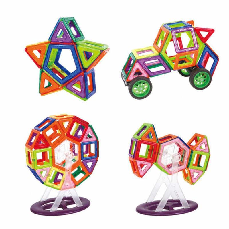 MylitDear 158 шт./лот большой размер 3D DIY строительные блоки Магнитная дизайнерская модель квадратный треугольник светящиеся Кирпичи игрушки для детей