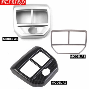 Image 5 - Armrest Box Rear Air Conditioning AC Vent Outlet Molding Cover Kit Trim 1 Piece Accessories For Peugeot 3008 3008GT 2017 2018