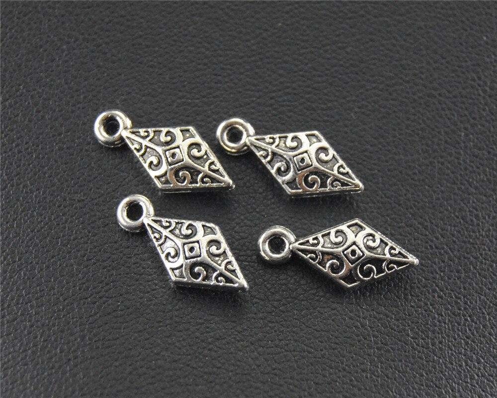 Schmuck & Zubehör Ehrlich 10 Stücke Antike Splitter Raute Form Tropfen Charme Armband Halskette Schmuck Handgemachte Diy 5x14mm A1481 Anhänger