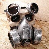 Steam Punk Maske Vintage brille Steampunk Gas Masken Daft Punk mighty Road Warrior Metallniete Atemschutzmaske Mad Max gothic requisiten