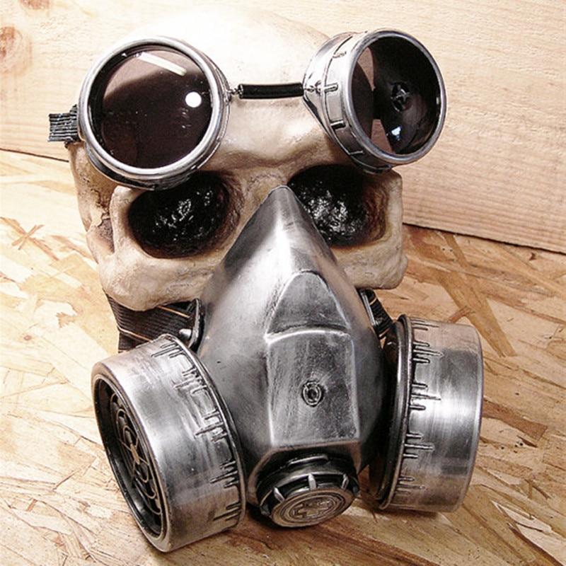 Steam Punk Mask Vintage glasses Steampunk Gas Masks Daft Punk mighty Road Warrior Metal Rivet Respirator Mad Max gothic props