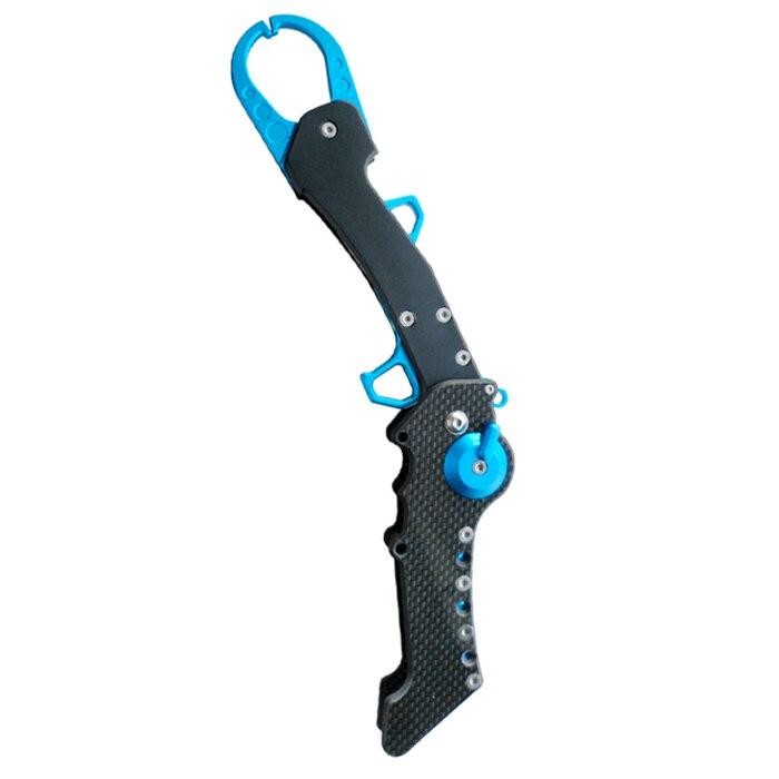 Carbon Fiber Handle Folding Length 28 5cm Fish Grip 25kg Portable Fish Grip Lip Red Fishing