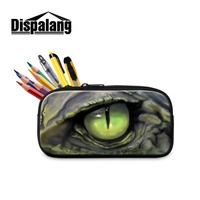 Dispalang Pencils Cases For Girls Cosmetic Cases Students Large Zippered Pen Bags For Boys Animal Printed