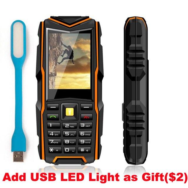 Оригинальный V3 IP67 Водонепроницаемый Противоударный Пылезащитный Мобильного Телефона Power Bank Длительным Временем Ожидания Открытый Армия 5200 мАч