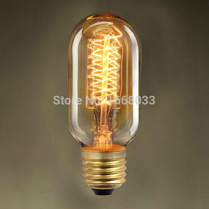 Lightinbox Free Shipping E27 40w/60w Ac 220v Incandescent Bulbs Wrap Filament T45 Vintage Edison Bulb Top Watermelons Light Bulbs
