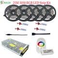 30 м 5050 RGB Светодиодная лента  водонепроницаемая Диодная лента  20 м  15 м  10 м  25 м  + контроллер 2 4G  РЧ rgb-усилитель DC12V  источник питания  полный ко...