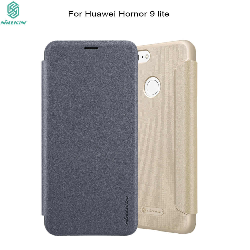 For Huawei honor 9 lite case cover NILLKIN hard back cover PU leather case flip cover for huawei honor 9 lite cover phone bags