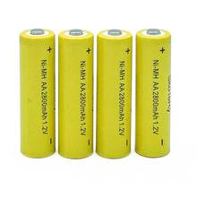 1PCS  lot AA Ni-MH 1.2V Rechargeable 2800mAh Battery battery aa batteries for Flashlight/Camera Yellow