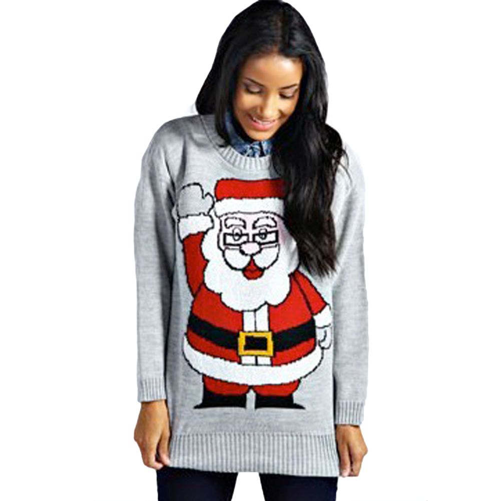 Christmas Tree Sweater Womens: New Women Sweater Crochet Christmas Xmas Santa Tree Elf