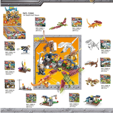 10 IN 1 jurassic Dinosaurs legoings Tyrannosaurus Rex Movie Sets Models Building Blocks Bricks Toys World Of Park Figures BKX101 10 in 1 jurassic dinosaurs legoings tyrannosaurus rex movie sets models building blocks bricks toys world of park figures bkx101