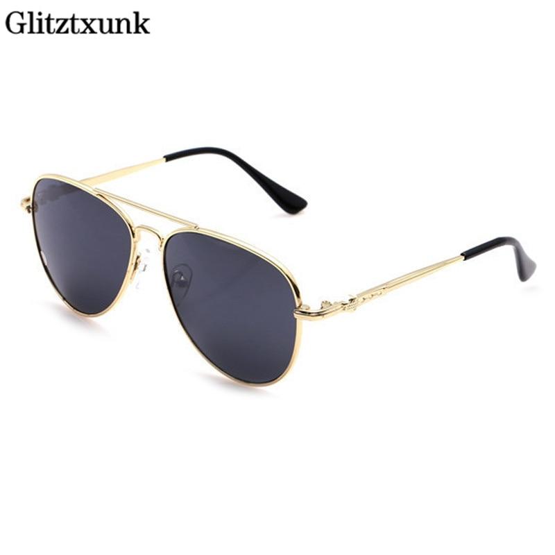 Glitztxunk Nova Moda Meninos Crianças Óculos De Sol Estilo Aviador Crianças  de Design Da Marca Óculos De Sol UV 100% óculos de Proteção Óculos de  Proteção ... b48e83fcfd
