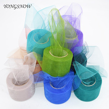 5cm*25m Shiny Tulle Roll Transparent Flash Organza DIY Crafts Wedding Birthday Party Decoration Gift Wrapping Baby Shower
