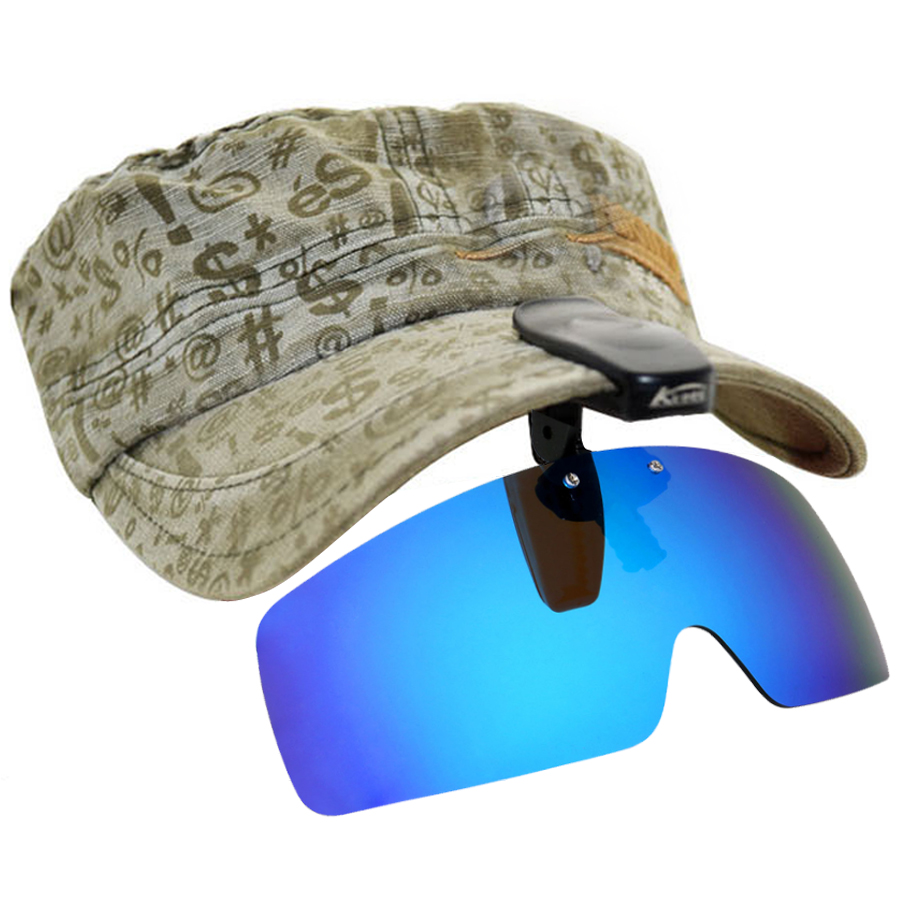 Polarized Fishing Glasses Hat Visors Sport Clips Cap Clip on Sunglasses For Fishing Biking Hiking Golf Eyewear UV400 máy xay sinh tố của đức