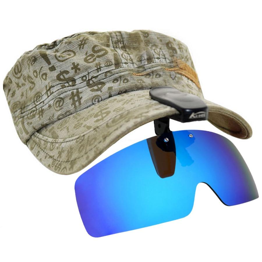 Polarized Fishing Glasses Hat Visors Sport Clips Cap Clip On Sunglasses For Fishing Biking Hiking Golf Eyewear UV400