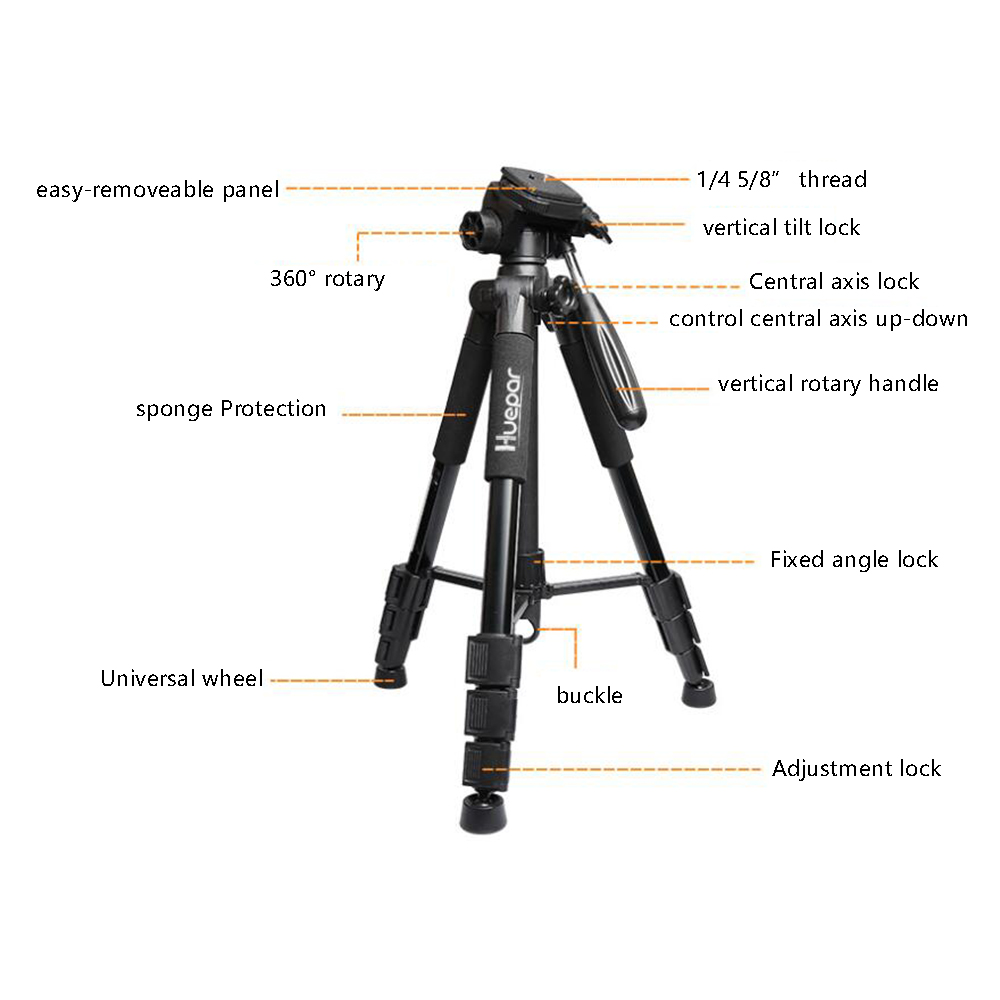"""Huepar Multi function Adjustable Height thicken aluminum laser level tripod /4"""" and 5/8""""-in Laser Levels from Tools    2"""