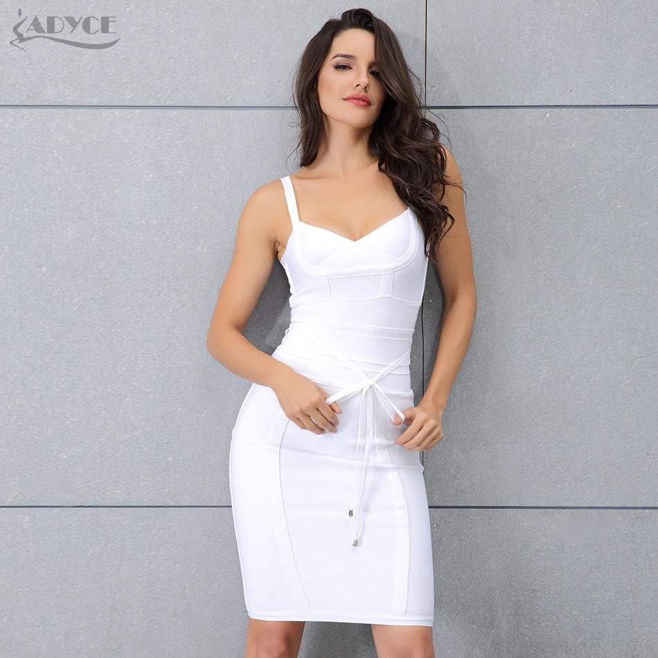 714a9b88bc031 Adyce Clothing Women Summer Bandage Dress 2019 Sexy Celebrity Party Dress  Nightclub Spaghetti Strap Bodycon Club Dress Vestidos