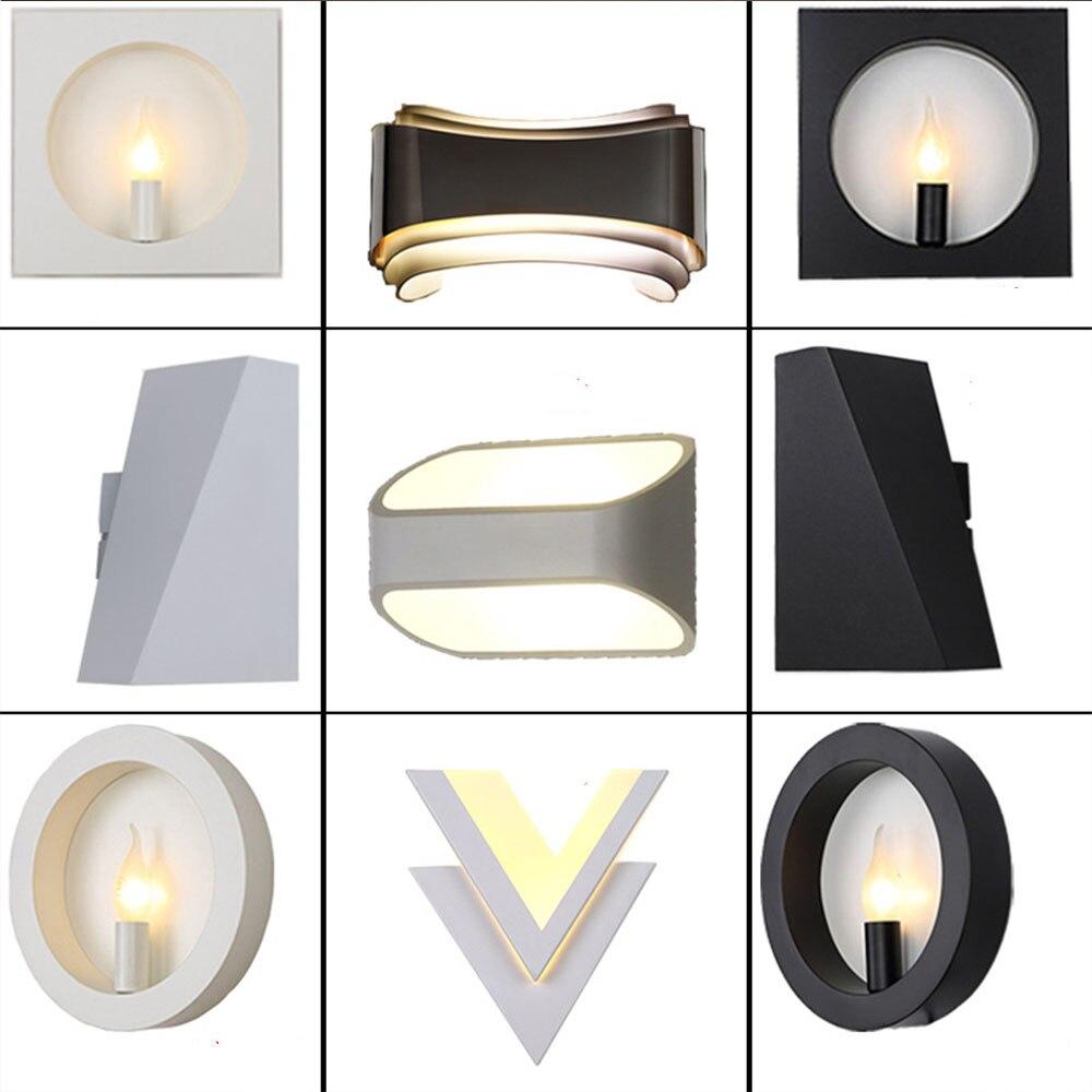 110 В 220 В черный двойной настенный светильник LED E14 База современный настенный светильник Для ванной Настенные светильники промышленных кори...