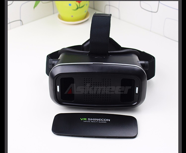 VR Shinecon VR Virtual Reality 3D Glasses Headband Cardboard Headmount Mobile 3D Movie Games for iPhoneSamsung 4.7-6 Smartphone (16)