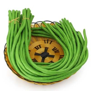 PU high simulation model Sauteed Green Beans carobs hotel kitchen dishes sample decoration display props image