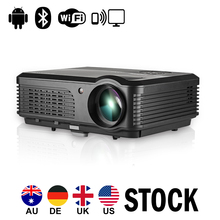 CAIWEI Android Wifi LCD Projector Bluetooth Home Theater Wireless Sync Proyector 1080P Movie Video Game USB VGA HDMI Smartphone