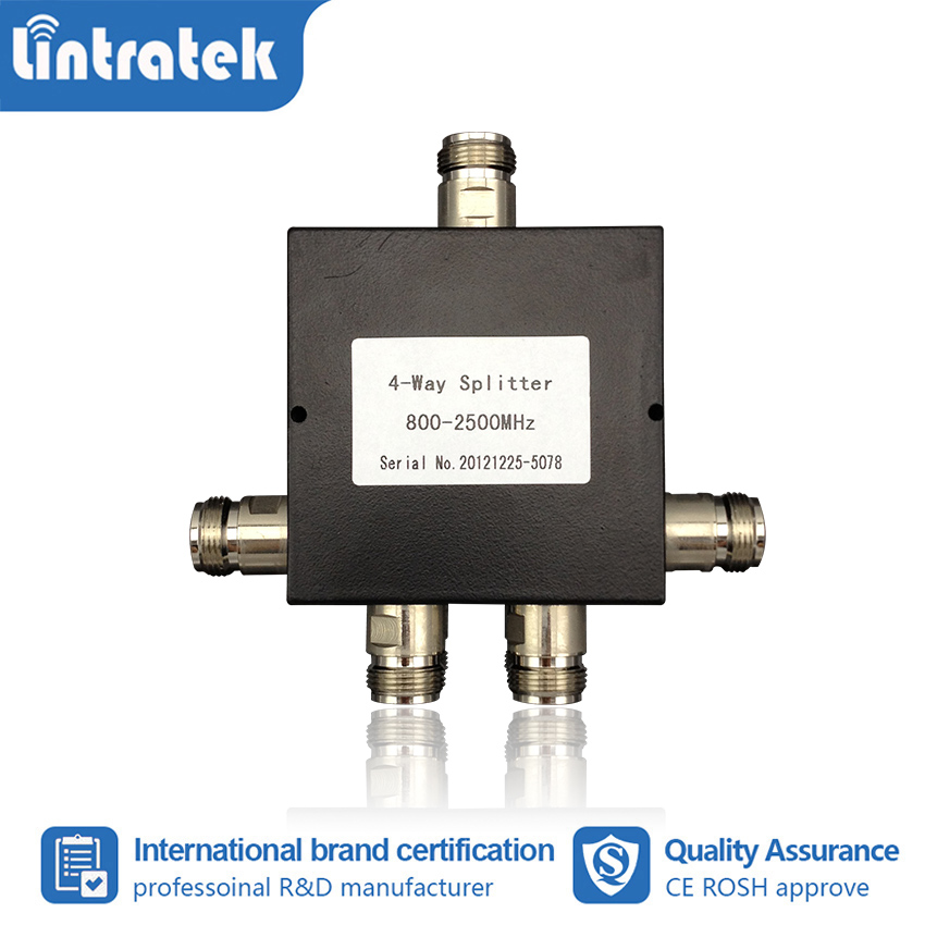 Upgrade 800~2500mhz 4-way Splitter For 2G 3G 4G 850/900/1700/1800/1900mhz Cellphone Signal Booster Repeater Amplifier #4