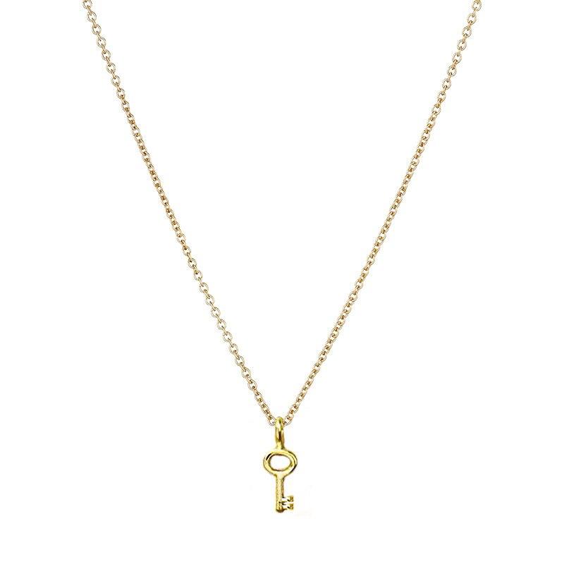 key necklace gold