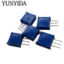 10PCS    3296W-100    10R  3296W-1-100LF  Adjustable precision potentiometer   Free shipping