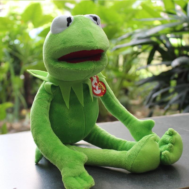 Image 2 - Kermit the Frog The Muppet Show 14'' 40cm Kermit plush toys Sesame Street doll animal  frog plush Stuffed Animal Doll-in Stuffed & Plush Animals from Toys & Hobbies