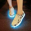 2016 Новая Мода Обувь Мужчины Теннис Светодиодные Обувь Для Взрослых Светящиеся Загорается Обувь Chaussures Корзины Привело Slipony Повседневная Обувь